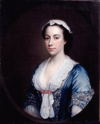 Portrait of a Lady in a Blue Dress, George Knapton