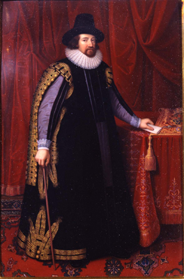 Portrait of Sir Francis Bacon Viscount Verulam Earl of St Albans (1561-1626), Henry Bone RA