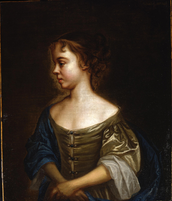 Portrait of a young girl in profile, Mary Beale