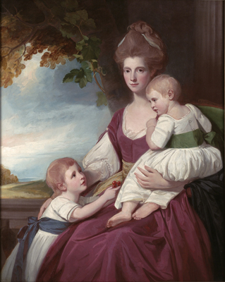 Portrait of Mrs Charles Hawkins and her children, George Romney