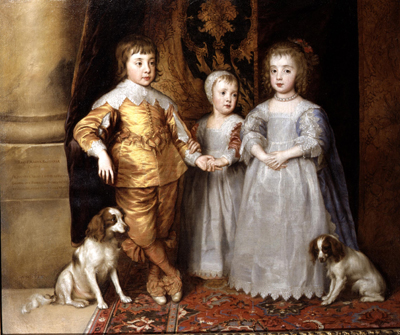 Portrait of the Eldest Children Charles I, 1630s, Studio of Sir Anthony Van Dyck