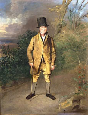 Portrait of a Gardener from Bramham, George Garrard