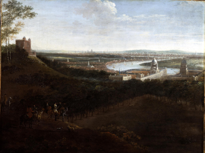 A Prospect of Greenwich with the observatory and Royal Hospital, Jan Griffier the Younger