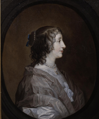 Portrait of Queen Henrietta Maria, c.1640, after Sir Anthony Van Dyck (1599-1641), Attributed to Henry Stone