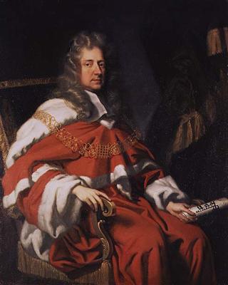 Portrait of Judge George Jeffreys, 1st Baron Jeffreys of Wem 1648 - 1689, John Closterman