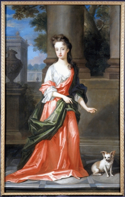 Portrait of a Young Girl with a dog c.1710, Charles Dagar