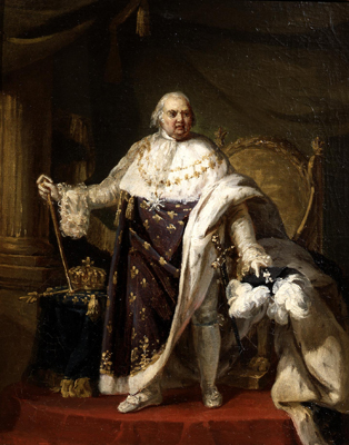 Portrait of King Louis XVIII (1755 - 1824), Anthony Francois Callet