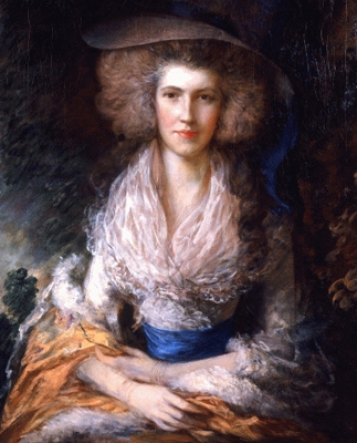 Portrait of a Lady now thought to be Mrs William Hallett (1764 – 1833), Thomas Gainsborough RA