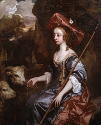 Anne Crane Lady Belasyse of Worlaby (d.1662) as a Shepherdess, Sir Peter Lely