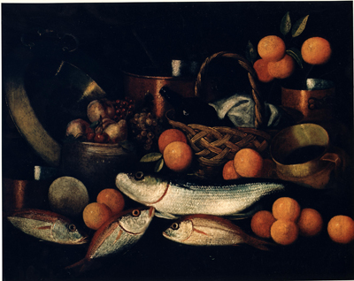 Still Life with Fruit and Fish, P Pinal