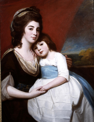 Portrait of Lady Georgina Smyth and her son, George Romney