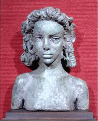 Bronze Bust of the Actress Juanita Forbes (b.1929), Sir Jacob Epstein
