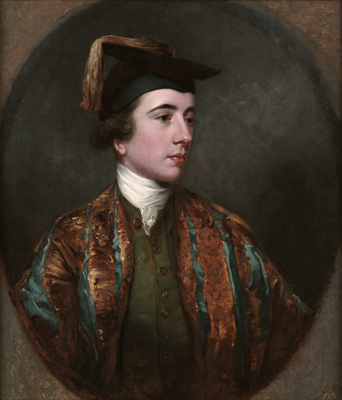 Portrait of a School Leaver wearing a Nobleman's cap and gown, James Northcote RA