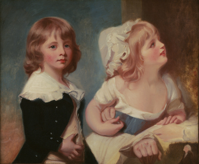 Lord Warwick's children, probably Lord Brooke (b1779-1853) and Henrietta Greville (d.1858), George Romney