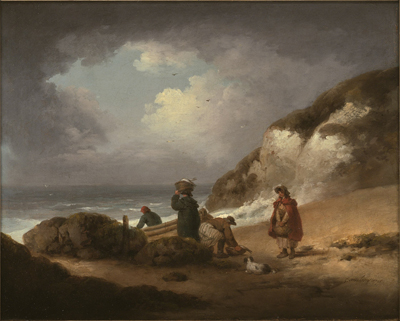 Fisherman unloading their catch, George Morland