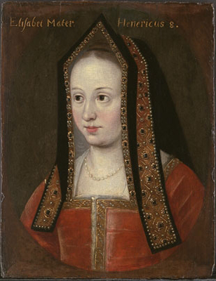 Portrait of Elizabeth of York (1466-1503),  English School