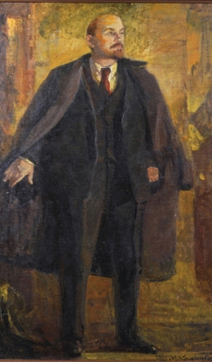Portrait of Vladimir Ilyich Ulyanov called Lenin (1870-1924), Russian School