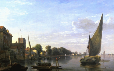 Chelsea from the River 1823, Charles Deane