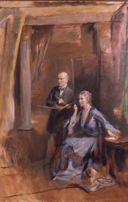 Portrait of the Artist and his Wife, Philip de László