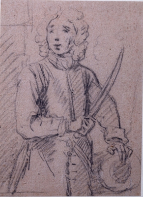 Pose sketch of Vice Admiral John Benbow (1653-1702), Sir Godfrey Kneller Bt.