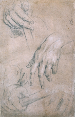 Study for the hands of a commander, c.1700, Sir Godfrey Kneller Bt.