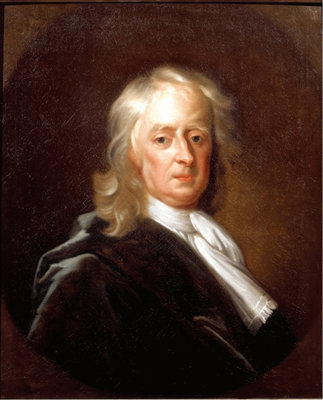 Portrait of Sir Isaac Newton (1646 - 1727) PRS, Enoch Seeman