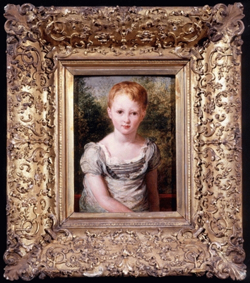 Portrait of a young child with red hair, John Linnell