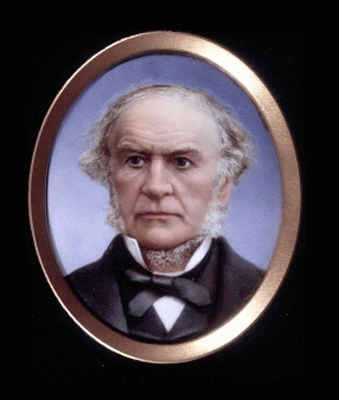 Enamel Portrait of William Ewart Gladstone (1809-1898), Sidney Calton Maguire