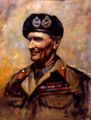Portrait of Field Marshal Bernard Law Montgomery (1887- 1976), Edwin Swan