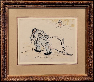 Winston Churchill with a skate ( 1874 - 1965), Sir William Nicholson