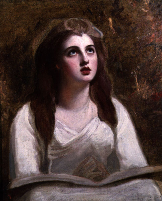 Portrait of Lady Emma Hamilton as St Cecilia (1761 - 1815), George Romney