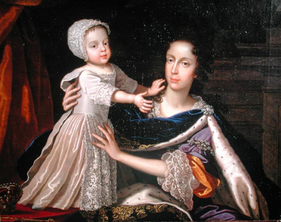 Portrait of Queen Mary of Modena with Prince James Stuart, Benedetto Gennari