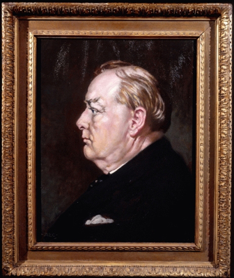 The Victory Portrait of Sir Winston Churchill (1874-1965), Alfred Egerton Cooper