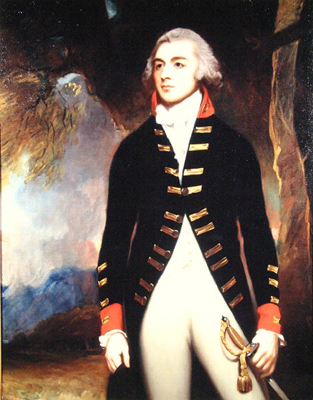 Portrait of John Richard West 4th Earl de la Warr (1758 - 1795), George Romney