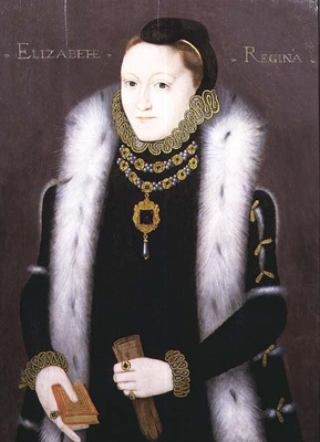 Portrait of Queen Elizabeth I ''The Clopton Portrait'',  English School