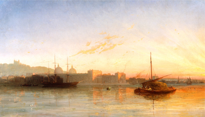 View of the Thames at Greenwich, Attributed to William Adolphus Knell
