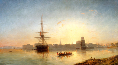 View of the Thames Estuary, Attributed to William Adolphus Knell