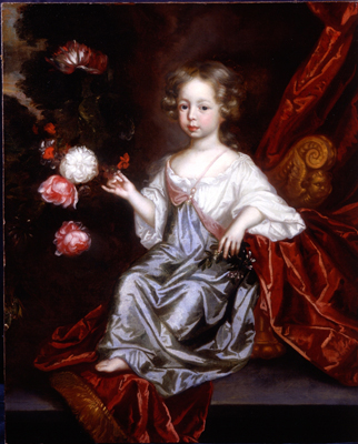 Portrait of a young girl with flowers, Circle of Simon Verelst