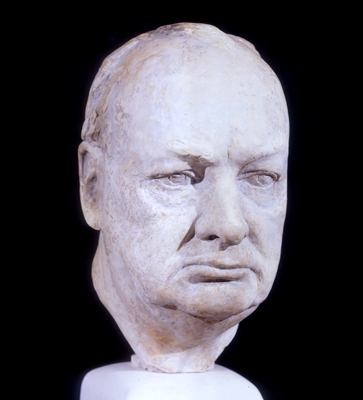 Portrait Bust of Sir Winston Churchill KG 1942, William Reid Dick - 531a