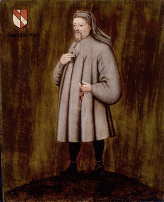 Portrait of Geoffrey Chaucer (?1340 - 1400),  English School