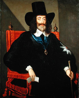 Portrait of King Charles I at his Trial 1649, Edward Bower, After