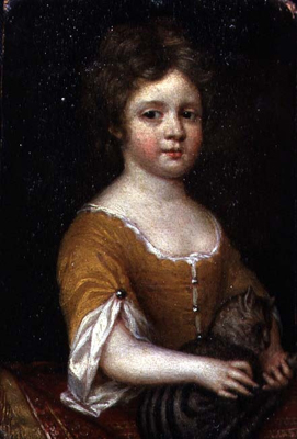 Portrait of a girl with a cat, 1665 - 70, Mary Beale