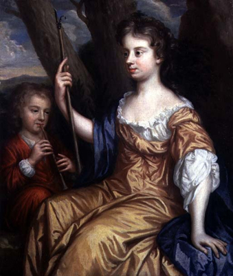 Self Portrait of the Artist as a Shepherdess with her son Charles in Attendance, Mary Beale