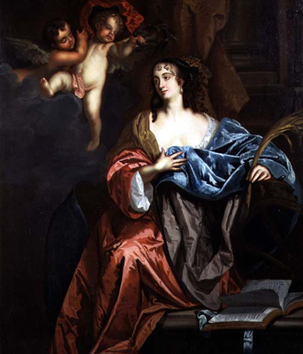 Portrait of Eleanor Needham, Lady Byron (1627 - 64),  as St Catherine, Sir Peter Lely