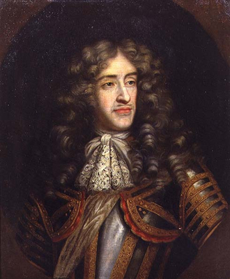 Portrait of James, Duke of York (1635 - 1701) as Lord High Admiral, c.1675, Henri Gascars