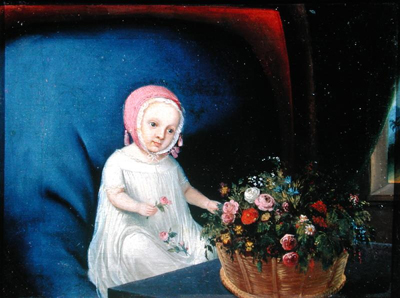 Portrait of a young child, Anglo Oriental