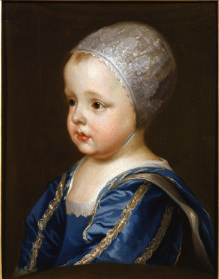 Portrait of infant James II, Circle of Sir Anthony Van Dyck
