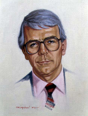 Portrait of John Major PM 1993, Peter Deighan