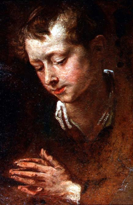 Study of the head and hands of a young boy, Sir Anthony Van Dyck