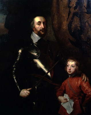 Portrait of Thomas Howard, 2nd Earl of Arundel 1585-1646 and his Grandson Thomas, 5th Duke of Norfolk 1627-77, Studio of Sir Anthony Van Dyck